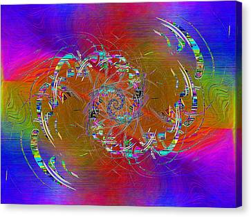 Canvas Print featuring the digital art Abstract Cubed 351 by Tim Allen