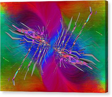 Canvas Print featuring the digital art Abstract Cubed 353 by Tim Allen