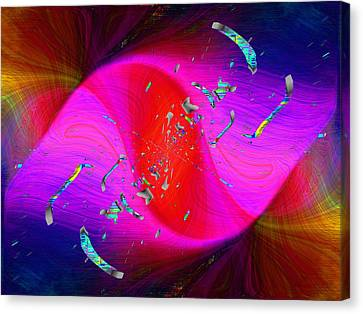 Canvas Print featuring the digital art Abstract Cubed 354 by Tim Allen