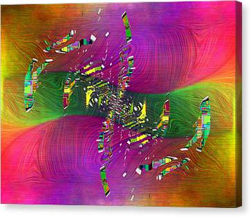 Canvas Print featuring the digital art Abstract Cubed 357 by Tim Allen