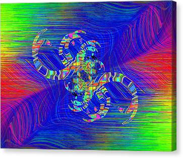 Canvas Print featuring the digital art Abstract Cubed 362 by Tim Allen
