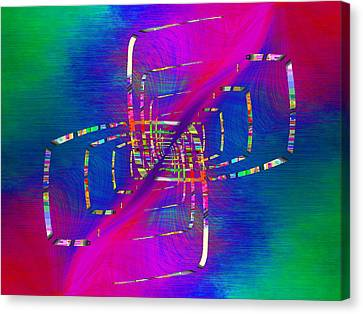 Canvas Print featuring the digital art Abstract Cubed 363 by Tim Allen
