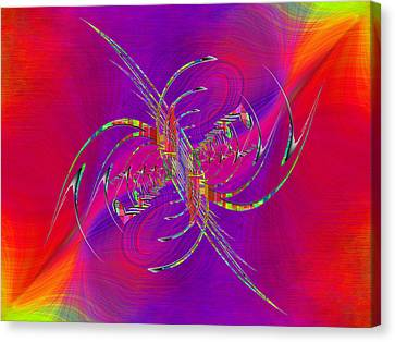 Canvas Print featuring the digital art Abstract Cubed 365 by Tim Allen