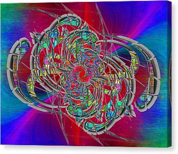 Canvas Print featuring the digital art Abstract Cubed 367 by Tim Allen