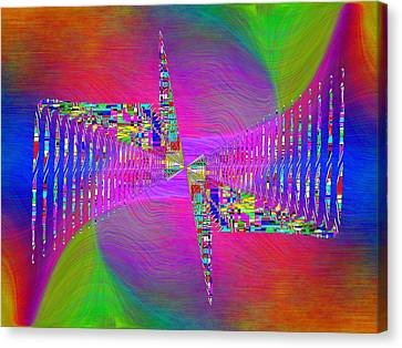 Canvas Print featuring the digital art Abstract Cubed 373 by Tim Allen