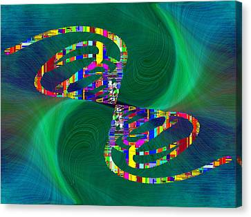 Canvas Print featuring the digital art Abstract Cubed 374 by Tim Allen