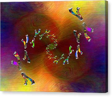Canvas Print featuring the digital art Abstract Cubed 375 by Tim Allen