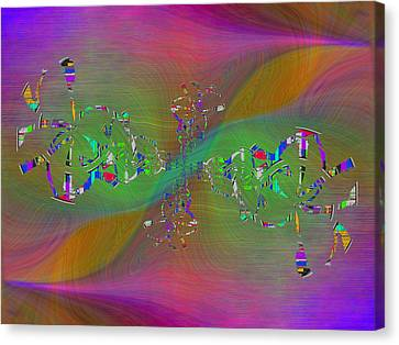 Canvas Print featuring the digital art Abstract Cubed 376 by Tim Allen