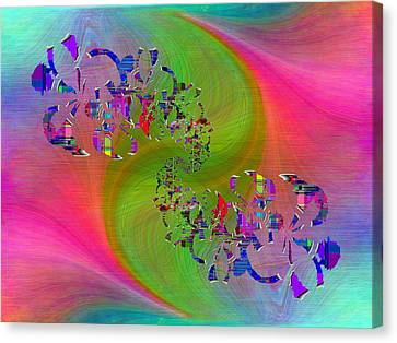 Canvas Print featuring the digital art Abstract Cubed 381 by Tim Allen