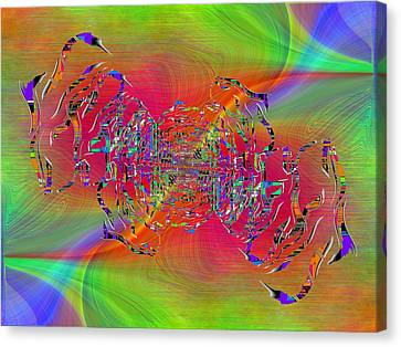 Canvas Print featuring the digital art Abstract Cubed 382 by Tim Allen