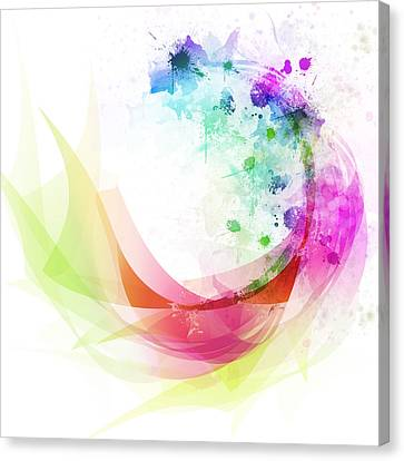 Abstract Curved Canvas Print by Setsiri Silapasuwanchai