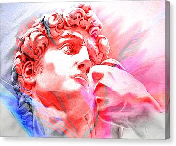 Canvas Print featuring the painting Abstract David Michelangelo 1 by J- J- Espinoza