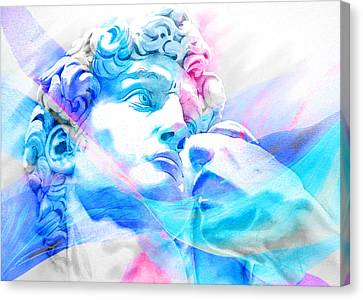Canvas Print featuring the painting Abstract David Michelangelo 3 by J- J- Espinoza