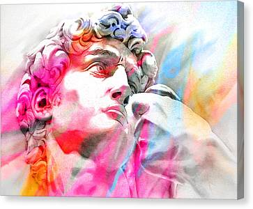 Canvas Print featuring the painting Abstract David Michelangelo 4 by J- J- Espinoza