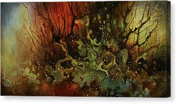 Random Shape Canvas Print - Abstract Design 101 by Michael Lang