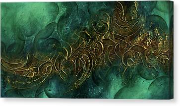 Random Shape Canvas Print - Abstract Design 109 by Michael Lang