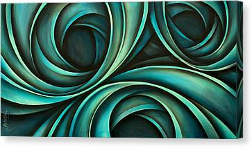 Sofa Size Canvas Print - Abstract Design 33 by Michael Lang