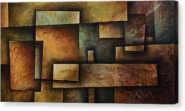Earth Tones Canvas Print - Abstract Design 9 by Michael Lang