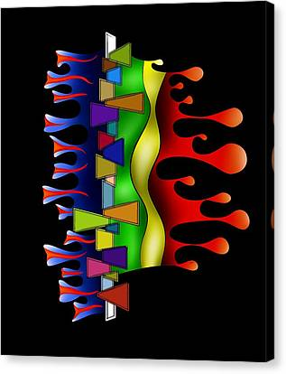 Abstract Digital Art - Grafenonci V2 Canvas Print by Cersatti