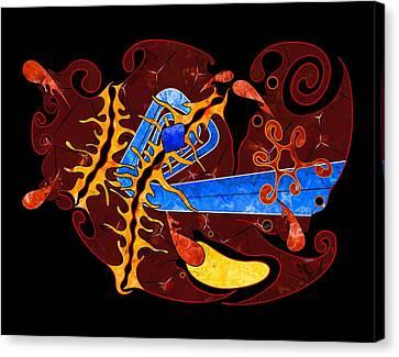 Abstract Digital Art - Visonorph V2 Canvas Print