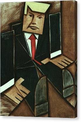 Tommervik Abstract Donald Trump Art Print Canvas Print by Tommervik