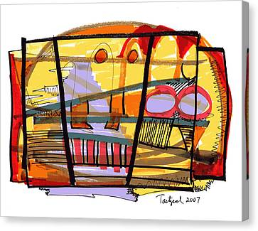 Abstract Drawing Sixty-seven Canvas Print