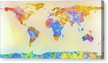 Abstract Earth Map 2 Canvas Print by Bob Orsillo
