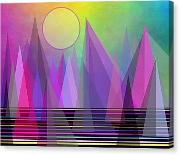 Abstract Elevation Canvas Print by Kathleen Sartoris