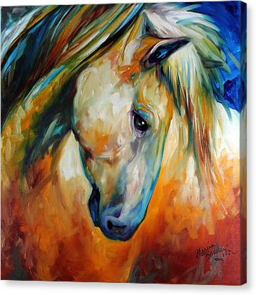 Canvas Print - Abstract Equine Eccense by Marcia Baldwin