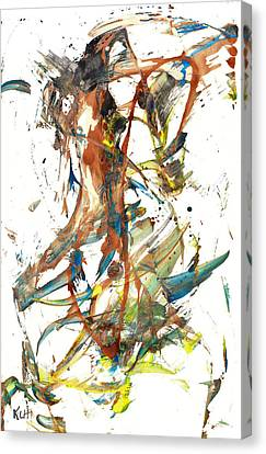 Canvas Print featuring the painting Abstract Expressionism Painting Series 1039.050812 by Kris Haas