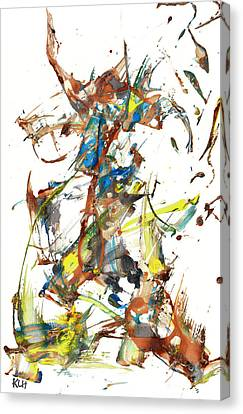 Canvas Print featuring the painting Abstract Expressionism Painting Series 1040.050812 by Kris Haas