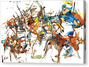 Canvas Print featuring the painting Abstract Expressionism Painting Series 1041.050812 by Kris Haas
