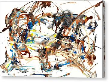 Canvas Print featuring the painting Abstract Expressionism Painting Series 1042.050812 by Kris Haas