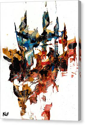 Abstract Expressionism Painting Series 750.102910 Canvas Print by Kris Haas