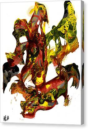 Abstract Expressionism Painting Series 834.110210 Canvas Print by Kris Haas