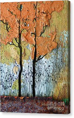 Abstract Fall Trees Canvas Print