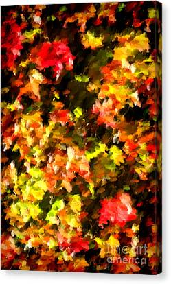 Abstract Fall Vine Canvas Print