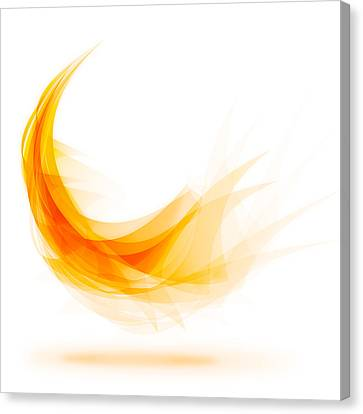 Flow Canvas Print - Abstract Feather by Setsiri Silapasuwanchai