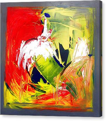 Abstract Fine Art Print - Gestural Abstraction Canvas Print by Mario Zampedroni