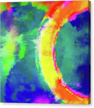 Abstract Art On Canvas Print - Abstract - Fire In The Sky by Jon Woodhams