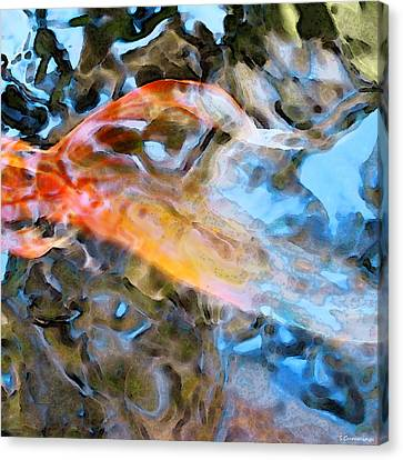 Abstract Fish Art - Fairy Tail Canvas Print by Sharon Cummings