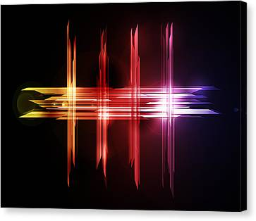 Beam Canvas Print - Abstract Five by Michael Tompsett