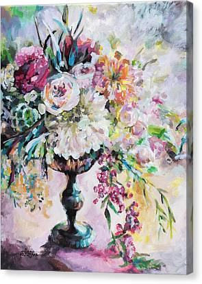 Abstract Floral Canvas Print by Arleana Holtzmann
