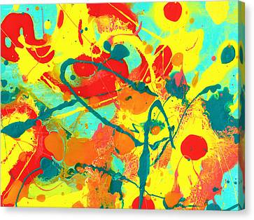 Abstract Floral Fantasy 3 Canvas Print by Amy Vangsgard
