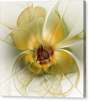 Abstract Flower With Silky Elegance Canvas Print by Karin Kuhlmann