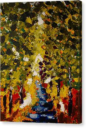 Abstract Forest #1 Canvas Print