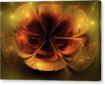 Abstract Fractal Flower Background Canvas Print
