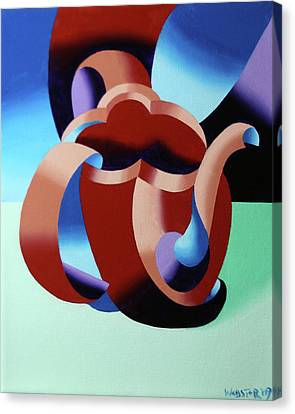 Abstract Futurist Teapot Canvas Print by Mark Webster