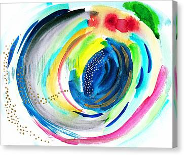 Abstract Galaxy In Watercolor Canvas Print by My Art