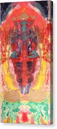 Abstract Ganesha Canvas Print